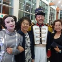 Three Chun University students in Korea