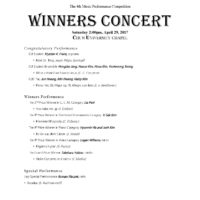 The 4th Competition Winners Concert 2017